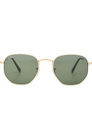 Ray-Ban Gafas de sol de lentes planas hexagonales en color oro metálico talla all en - Metallic Gold. Talla all.