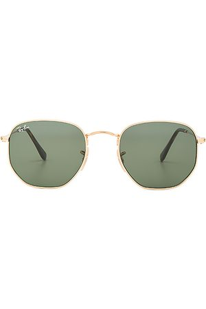 Ray-Ban Lentes de sol - Gafas de sol de lentes planas hexagonales en color oro metálico talla all en - Metallic Gold. Talla all.