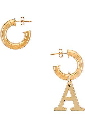 Martha Calvo Pendientes en color oro metálico talla A en - Metallic Gold. Talla A (también en C, D, E, F, G, H