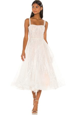 Bronx and Banco Vestido midi mademoiselle en color talla L en - White. Talla L (también en S).