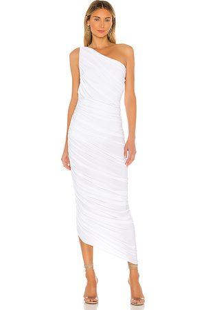 Norma Kamali Vestido largo un hombro diana en color talla L en - White. Talla L (también en M, S, XS).