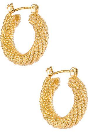 Electric Picks Jewelry Aros presley en color oro metálico talla all en - Metallic Gold. Talla all.