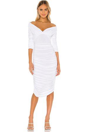 Norma Kamali Vestido tara en color talla M en - White. Talla M (también en S, XS).