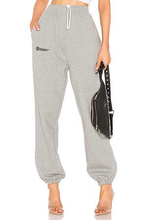 DANIELLE GUIZIO Pantalón deportivo fleece en color gris talla L en - Gray. Talla L (también en M, S, XS).