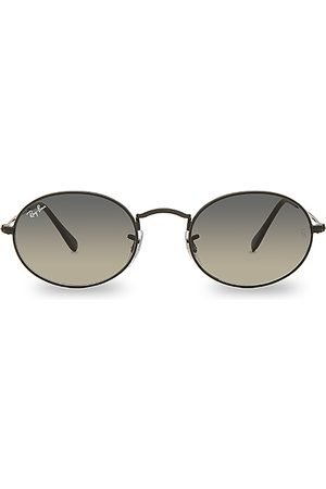 Ray-Ban Gafas de sol oval flat en color negro talla all en Black Nero & Gray Green - Black. Talla all.