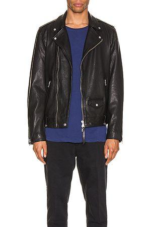AllSaints Chaqueta cuero milo en color talla L en - Black. Talla L (también en S, M, XL).