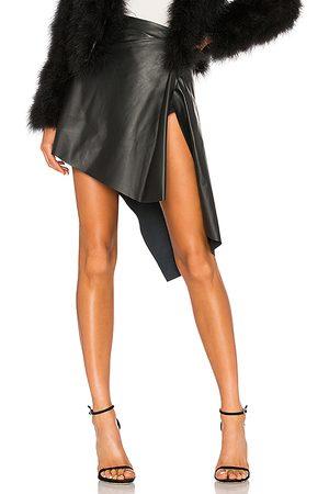 LaMarque Falda cuero celeste en color talla 0 en - Black. Talla 0 (también en 10, 2).