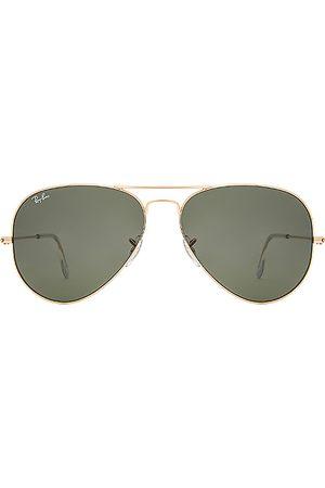Ray-Ban Gafas sol aviador large classic en color oro metálico talla all en - Metallic Gold. Talla all.