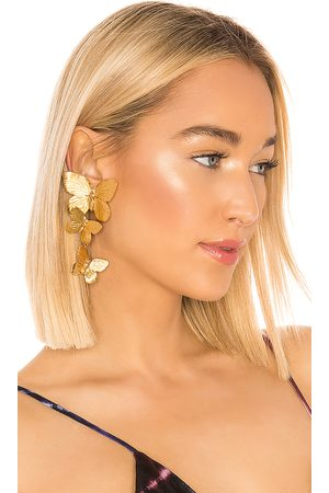 Jennifer Behr Pendientes alessandra en color oro metálico talla all en - Metallic Gold. Talla all.
