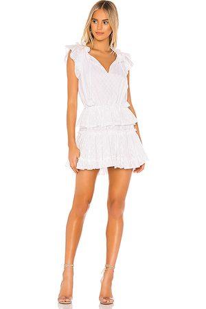 MISA Vestido lilian en color talla L en - White. Talla L (también en M, S, XS).