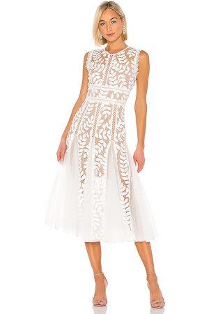 Bronx and Banco Mujer Midi - Vestido midi saba en color talla L en - White. Talla L (también en XS, S).