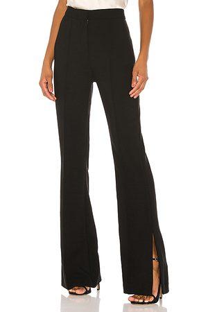 Valentina Shah Pantalón de tiro alto cloe en color talla 0 en - Black. Talla 0 (también en 2).