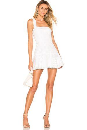 Amanda Uprichard Vestido annalise en color talla L en - White. Talla L (también en S).