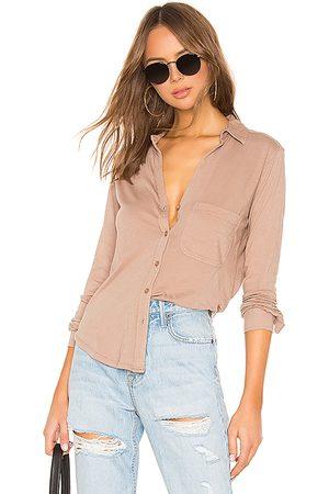 Bobi Camisa de botones light weight jersey en color marrón talla L en - Brown. Talla L (también en M, XS).