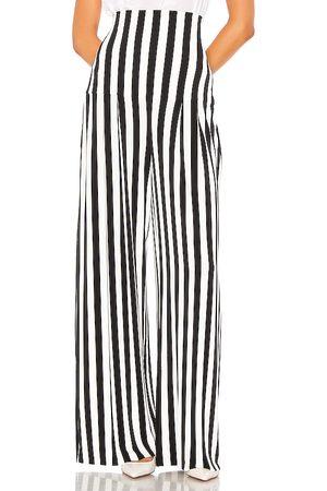 Norma Kamali Pantalón de tiro alto en color black & white talla S en - Black & White. Talla S (también en XS).