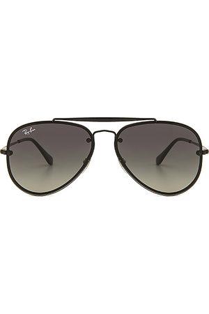 Ray-Ban Gafas de sol blaze en color negro talla all en Degradado negro con brillo medio y gris oscuro - Black. Talla all.
