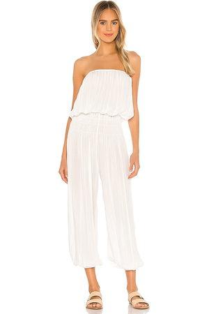 Indah Seychelle strapless pleated jumpsuit en color blanco talla M/L en - White. Talla M/L (también en S/M, XS/S).