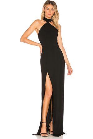 Amanda Uprichard Vestido largo queen en color talla L en - Black. Talla L (también en M, S, XS).
