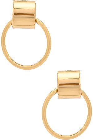 Jenny Pendientes faye en color oro metálico talla all en - Metallic Gold. Talla all.