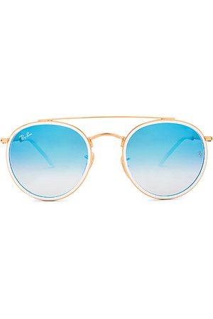 Ray-Ban Gafas de sol round double bridge en color oro metálico talla all en - Metallic Gold. Talla all.