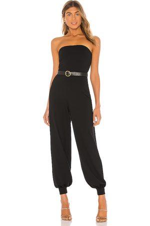 Susana Monaco Mujer Largos - Strapless cuffed ankle jumpsuit en color talla S en - Black. Talla S (también en XS).