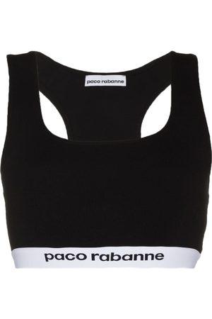 Paco rabanne Bra deportivo con franja del logo