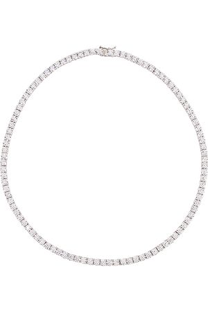 The M Jewelers Collar full iced out en color plateado metálico talla all en - Metallic Silver. Talla all.