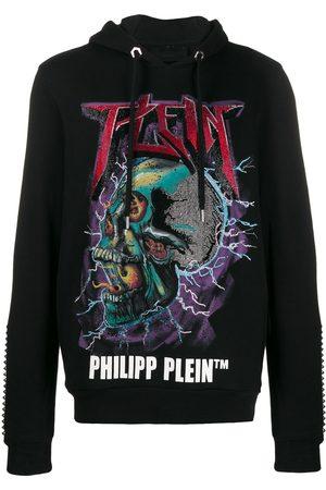 Philipp Plein Hombre Con capucha - Sudadera con capucha y calavera con detalles