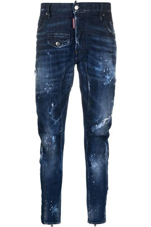 Dsquared2 Hombre Skinny - Skinny jeans con efecto envejecido