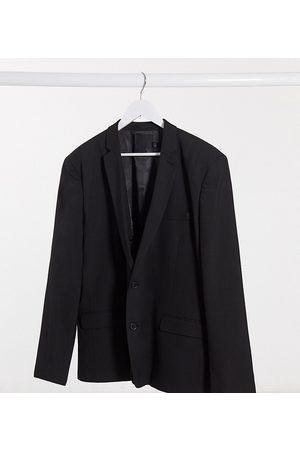 ASOS Plus skinny suit jacket in black