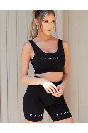The O Dolls Collection ODolls Collection logo bodycon short in black
