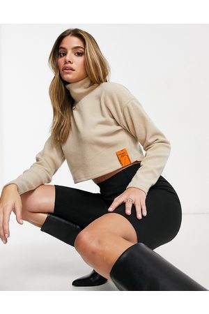 Sixth June Cropped roll neck jumper in knit