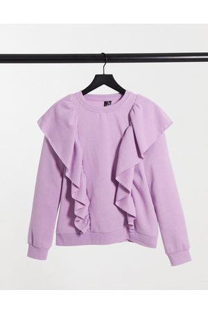 Vero Moda Sweat with ruffles in lilac