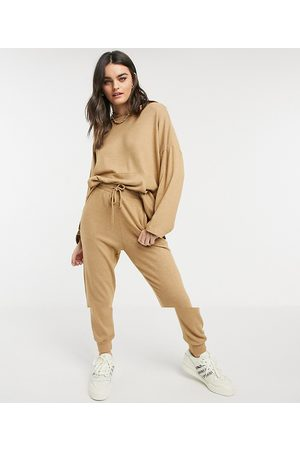ASOS Tracksuit oversized hoodie / jogger in supersoft in camel