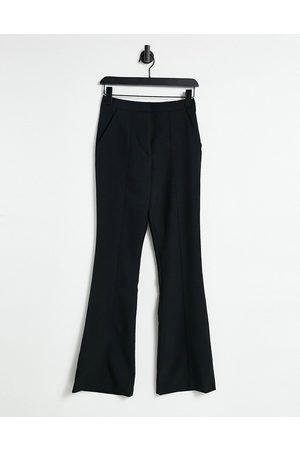 ASOS Slim kick flare trousers with seams in black