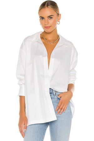 Norma Kamali Camisa oversized en color talla L en - White. Talla L (también en XS, S, M).