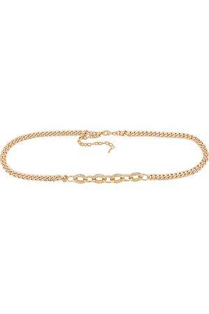 Ettika Cinturón en color oro metálico talla all en - Metallic Gold. Talla all.