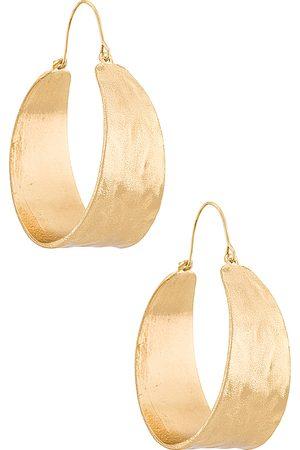 petit moments Pendientes de aro terrain en color oro metálico talla all en - Metallic Gold. Talla all.