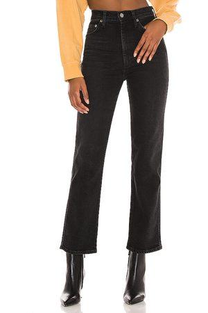 AGOLDE Corte acampanado pinch waist en color negro talla 23 en - Black. Talla 23 (también en 24, 25, 26, 27, 28, 29, 30, 31).
