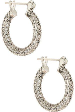 Luv AJ Mujer Anillos - Pendiente pave en color metálico talla all en - Metallic Silver. Talla all.