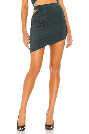 h:ours Minifalda diane en color verde oscuro talla L en - Dark Green. Talla L (también en XXS, XS, S, M, XL).