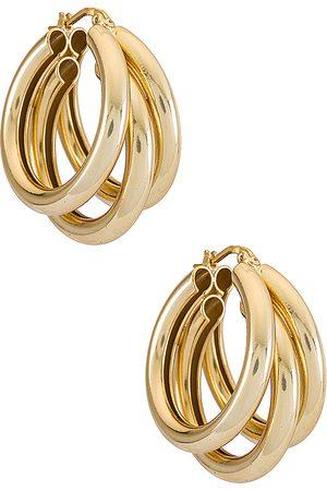 Electric Picks Jewelry Pendientes nirvana en color oro metálico talla all en - Metallic Gold. Talla all.
