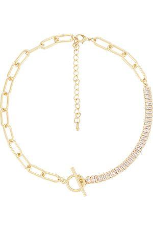 petit moments Collar demie en color oro metálico talla all en - Metallic Gold. Talla all.
