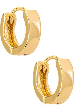 Natalie B Jewelry Pendientes de aro marga en color oro metálico talla all en - Metallic Gold. Talla all.