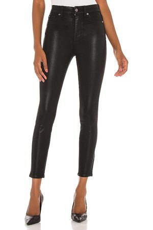 7 for all Mankind The high waist ankle skinny with faux pockets en color negro talla 26 en - Black. Talla 26 (ta
