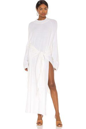 SNDYS Mujer Midi - Vestido midi tied up en color talla M en - White. Talla M (también en XS, S).