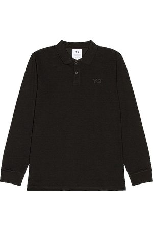 Y-3 Pique long sleeve polo en color talla M en - Black. Talla M (también en S).