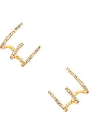 ELLIE VAIL Pendientes selma en color oro metálico talla all en - Metallic Gold. Talla all.