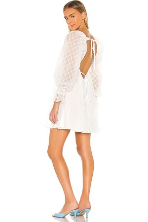 LPA Vestido talulah en color talla L en - White. Talla L (también en XXS, XS, S, M).