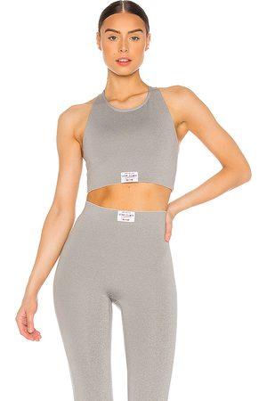 Adam Selman Sport Top corto legging en color gris talla XXS en - Grey. Talla XXS (también en XS, L).